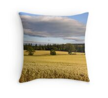 Northumberland cornfield Throw Pillow