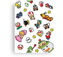 It's a SUPER Mario Pattern. Canvas Print