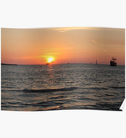 Sunset at Clearwater Beach  Poster