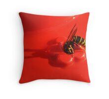 Sipping Hummingbird  Juice Throw Pillow