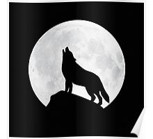 Howling Wolf - Moon Poster