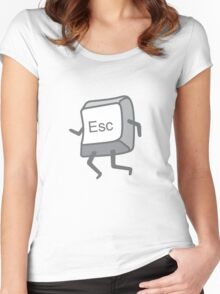 Esc Button - Escaping Women's Fitted Scoop T-Shirt