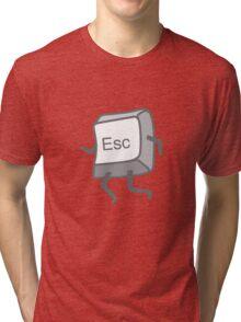 Esc Button - Escaping Tri-blend T-Shirt