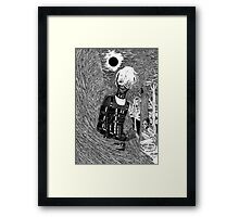 Inside The Reeking Darkness; Rise Of The Dark Angel Framed Print