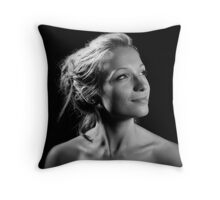 Portrait with one light! Throw Pillow
