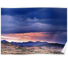 Sunset Over Kennecott Copper Mine Poster