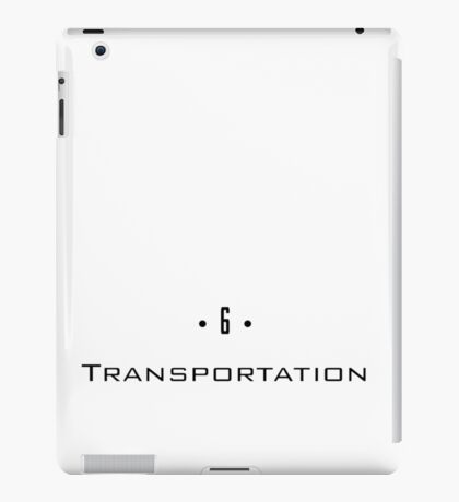 D 6 - Transportation iPad Case/Skin