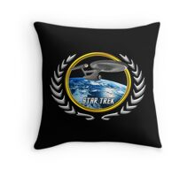 Star trek Federation of Planets Enterprise 1701 old Throw Pillow