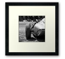 Classic racing #56 car sits in front of cricket match Framed Print