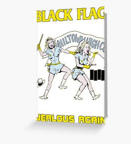 Black Flag - Jealous Again Greeting Card