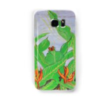 Thai leaves blowing in the Breeze. Samsung Galaxy Case/Skin