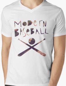 Modern Baseball Bats Mens V-Neck T-Shirt