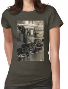 Historic locomotive 92212 Womens Fitted T-Shirt