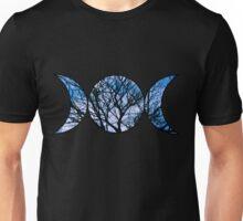 Blue Triple Goddess Symbol Unisex T-Shirt