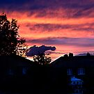 Sunset In Darfield by Mark Dobson