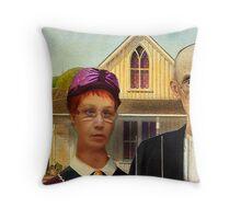 The Purple Hat Art League Throw Pillow