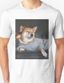 Dog in a sweater Unisex T-Shirt