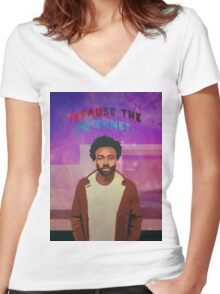 Acid Rap / Because The Internet Women's Fitted V-Neck T-Shirt