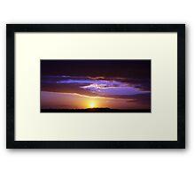 Sunset over the Wind Farm III Framed Print