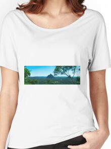 Hills and pasture of the Sunshine Coast hinterland. Women's Relaxed Fit T-Shirt