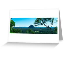 Hills and pasture of the Sunshine Coast hinterland. Greeting Card