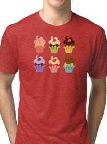 Cupcakes Tri-blend T-Shirt