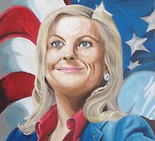 Fictional American Leslie Knope Parks & Recreation Fanart by michiarr