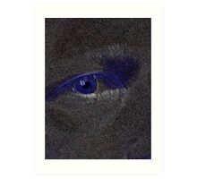 My Eye In Perspective of Blue Art Print