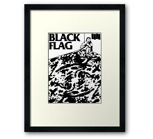 Black Flag - Six Pack Framed Print