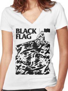 Black Flag - Six Pack Women's Fitted V-Neck T-Shirt
