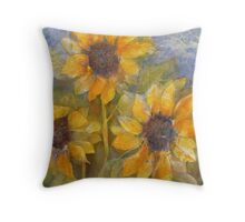 Sunny Trio Throw Pillow