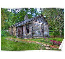 1830 Log Cabin Poster