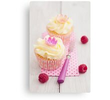 Two cupcakes Canvas Print