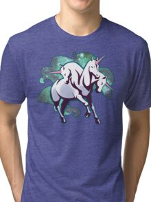 3 headed unicorn Tri-blend T-Shirt