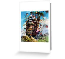 howl's moving castle Greeting Card