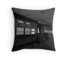 she was as empty & as run down as this train. Throw Pillow