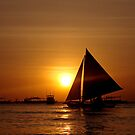 Sunset Sailboat - Boracay, Philippines by Alizey Khan