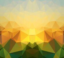 Sunrise Polygon Art Sticker