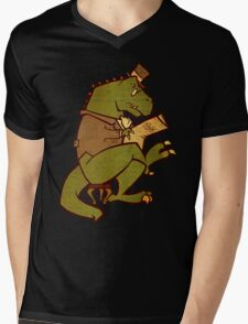 Gentleman T-Rex Mens V-Neck T-Shirt