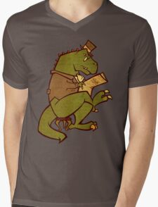 Gentleman T-Rex Mens V-Neck T-Shirt