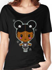 Kawaii AfroPuff Goth Women's Relaxed Fit T-Shirt