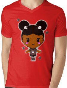 Kawaii AfroPuff Goth Mens V-Neck T-Shirt
