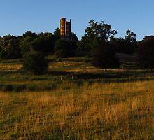 The Freston Tower at Dawn by wiggyofipswich