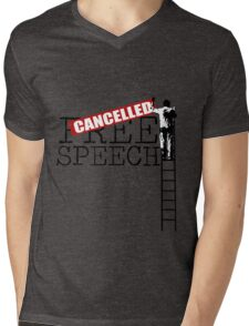 Free Speech - Cancelled Mens V-Neck T-Shirt