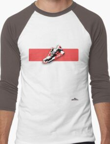 8-bit running shoe T-shirt Men's Baseball ¾ T-Shirt