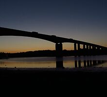 The Orwell Bridge at Dawn  by wiggyofipswich