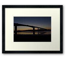 The Orwell Bridge at Dawn  Framed Print