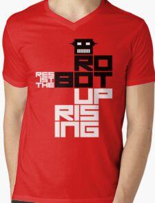 Resist the Robot Uprising Mens V-Neck T-Shirt
