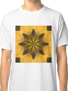 Gold Abstract Flower Classic T-Shirt