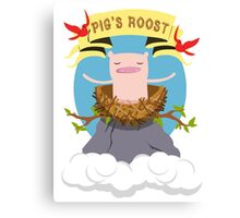 Pig's Roost Canvas Print